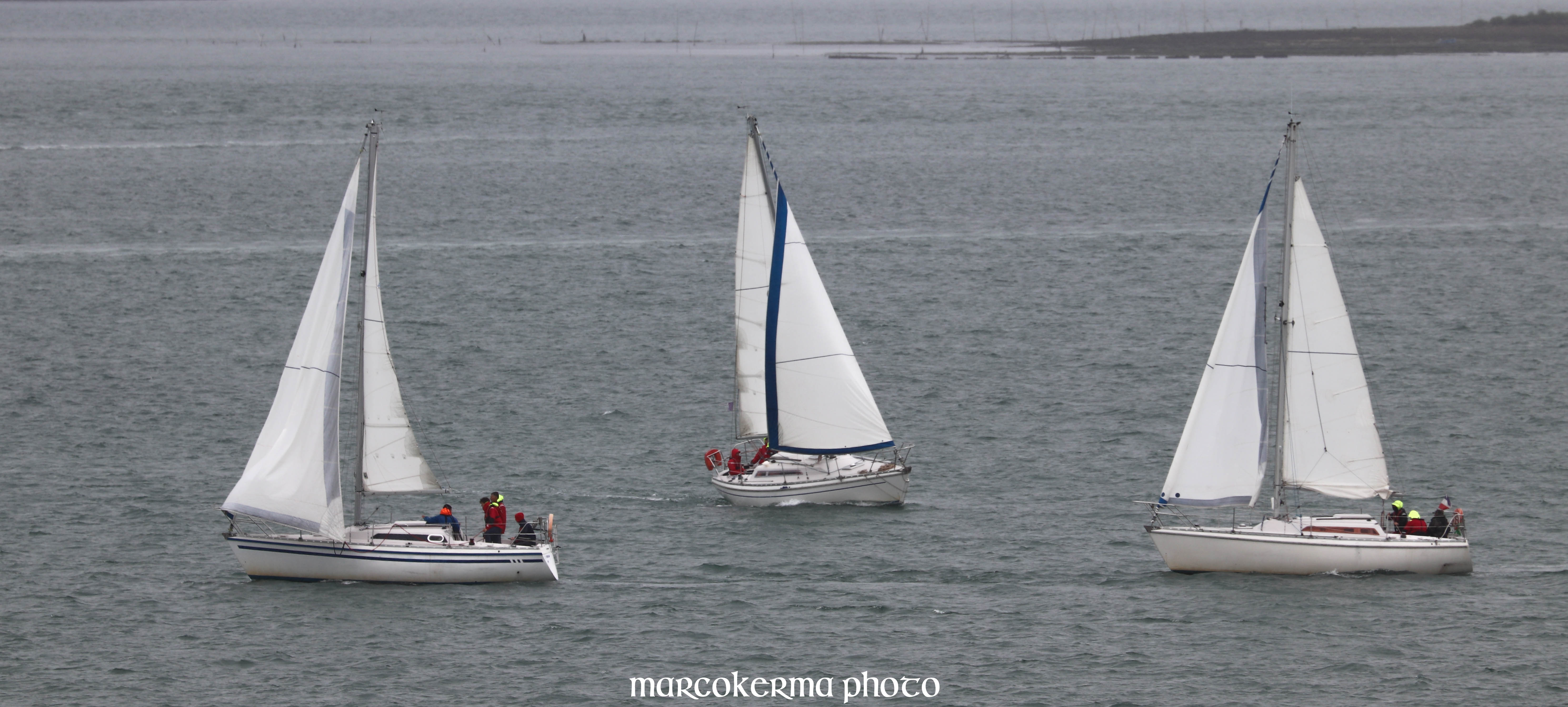 régate devant l'île aux Moines, Golfe du Morbihan, 9 juin 19, 16h32.jpg